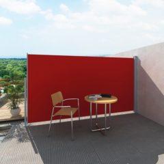 Rode VidaXL Uittrekbaar wind- / zonnescherm 160 x 300 cm (rood)