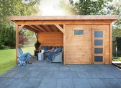 Woodvision Douglas Topvision | Blokhut Raaf met luifel 300 cm