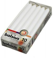 Bolsius International Bolsius Dinerkaarsen - 230/20 - Wit - 10 St