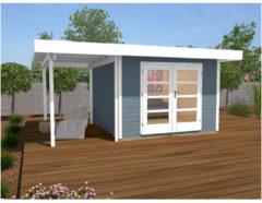 Weka tuinhuis Design 126A Gr.2 13,4m² grijs