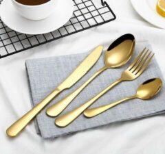 KELERINO. Bestek Set - 4-Delig - Vintage Luxe Design - Goud