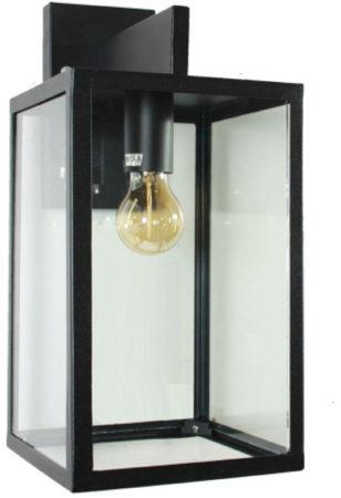 Afbeelding van Zwarte KS Verlichting K.S. Verlichting Hampton Wandlamp - Zwart
