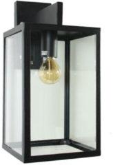 Zwarte KS Verlichting K.S. Verlichting Hampton Wandlamp - Zwart