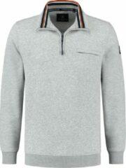Chris Cayne - Sweater Half Zip - Heren - Trui - Grijs - Maat XL