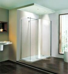 Douchewand Walk-In Inloopdouche 6mm gehard easy clean glas transparant 185x90cm - Volente Eastbrook