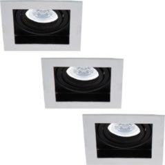 HOFTRONIC™ Set van 3 stuks Dimbare LED inbouwspot Durham 5 Watt 2700K warm wit Kantelbaar