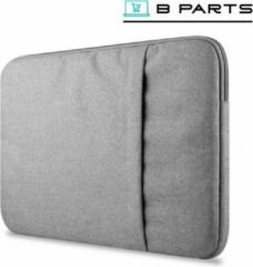 Licht-grijze BParts - 13 inch Hoge kwaliteit Laptop sleeve - Beschermhoes laptop - Laptophoes - Extra zachte binnenkant - Lichtgrijs