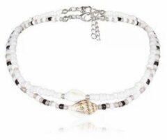 Zilveren Yada Choker schelpjes Trendy - 2 stuks - Dames
