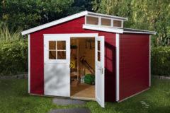 Rode WEKA | Tuinhuis 226 | 295 x 299 cm | Zweeds rood