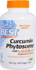Doctor's Best, Curcumin Phytosome, met Meriva, 500 mg, 180 vegetarische capsules