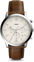 Fossil FS5380 Herenhorloge Neutra Chrono silver-brown