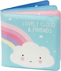 A Little Lovely Company Badboekje Cloud&friends 12 Cm Foam Blauw/roze