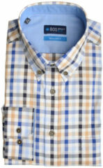 Bruine Bos Bright Blue Blue willem shirt casual bd 20107wi15bo/830 camel