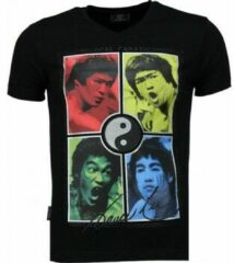 Zwarte T-shirt Korte Mouw Local Fanatic Bruce Lee Ying Yang - T-shirt