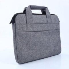 MoKo H821 aktetas Laptop Schoudertas 14.1 inch Notebook Tas - Hoes Multipurpose voor Macbook Pro 15.4 A1707 A1990 (14-14,1 inch, grijs)