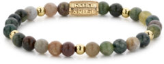 Rebel & Rose Rebel and Rose RR-60069-G Rekarmband Beads Indian Summer meerkleurig-goudkleurig 6 mm S 16,5 cm