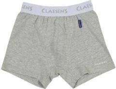 Grijze Claesen's Jongens Boxershort - Grey Melee - Maat 92-98
