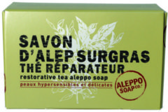 Aleppo Soap Co Aleppo zeep met thee in doosje 150 Gram