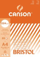 Witte Canson tekenblok Bristol formaat 21 x 29,7 cm (A4)