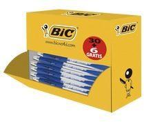 Balpen Bic atlantis classic blauw medium doos à 30+6 gratis - actie! - actie!