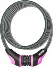 Onguard Kabelslot Coil Neon Combo 180 Cm X 12 Mm Zwart/roze