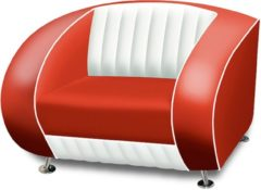 Bel Air Retro Fauteuil SF-01CB Rood - Bel Air Retro Fauteuil SF-01CB Rood