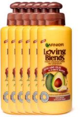 Garnier Loving Blends Avocado Olie & Karité Boter Leave-in haarcrème - 6 x 200ml - Multiverpakking