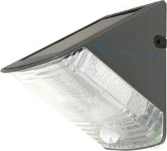 Antraciet-grijze Smartwares RANEX OLAV SOLAR WANDLAMP MET BEWEGINGSMELDER OLAV 5000.261