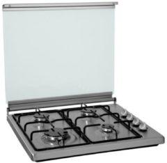 Zilveren ETNA KGV358RVS - Vrijstaande Gas kookplaat - RVS