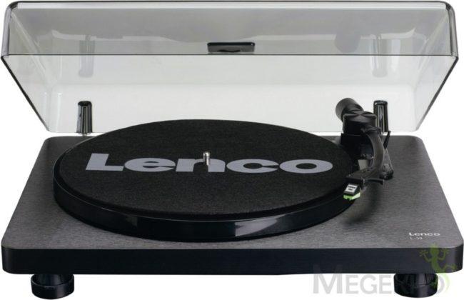 Afbeelding van Lenco L-30 Zwart - Platenspeler met auto-stop en USB aansluiting - Phonocartridge met bewegende magneet