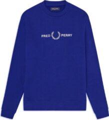 Blauwe Fred Perry Graphic Sweatshirt Graphic Sweatshirt Heren Trui Maat S