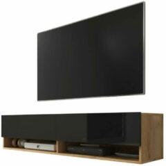 Maison Home Tv meubel - Eikenhout/Zwart - Wander - 140x30x32,5