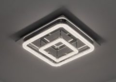 KIOM Led Deckenleuchte Crilou SQ-L 50x50cm Kristalldiffusor 48W 4000K chrom 10741