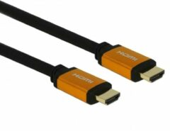 DeLOCK 85729 HDMI kabel 2 m HDMI Type A (Standaard) Zwart, Goud