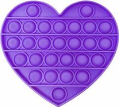 Stemen Pop it hart paars anti-stress toy Pop'n play Tiktok game - hart paars pop it