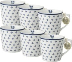 Blauwe Laura Ashley Minimokken Petit Fleur (Set 6 stuks)