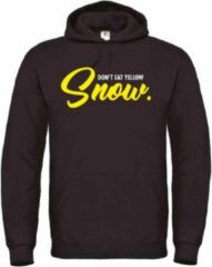 Zwarte Merkloos / Sans marque Wintersport Hoodie Don't eat the yellow snow - soBAD.