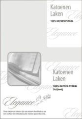Grijze Elegance Laken Katoen Perkal - licht grijs 240x275