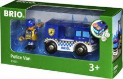 Blauwe Ravensburger BRIO Politiebus - 33825