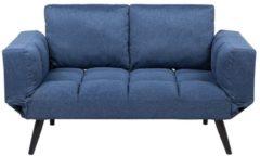 Blauwe Beliani Brekke Slaapbank Polyester 76 X 187 Cm