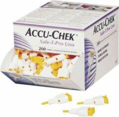 Witte Roche Accu-chek Safe T-Pro Uno lancet 200 stuks