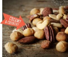 Red Squirrels DAGELIJKS VERS GEBRAND. Most Wanted Macadamia-Mix (gebrand, gezouten, 500 gram)