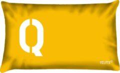 Rode Velits outdoor Buitenkussen Seinvlag letter Q waterafstotend bootkussen 40x60cm.