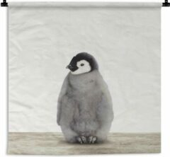 1001Tapestries Wandkleed Animalprintshop - Baby Pinguïn dierenprint kinderkamer Wandkleed katoen 180x180 cm - Wandtapijt met foto