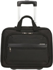 Zwarte Samsonite Laptoptrolley - Vectura Evo Business Case/Wheels 15.6 inch (Handbagage) Black