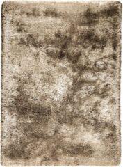 Bruine LIGNE PURE Adore – Vloerkleed – Tapijt – handgeweven – polyester – modern – hoogpolig - beige - 200 x 300 cm