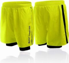 Gele Boxeur Des Rues Short In Poly With Short Inside To Contr-yellow