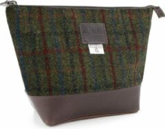Rode The British Bags Company Toilettas Breanais Harris Tweed - Leer
