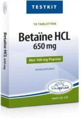 Vitakruid Vitatkruid Testkit Betaine HCL 650 mg & pepsine 160 mg - 10 tabletten