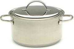 Roestvrijstalen Demeyere Resto kookpot met deksel 22 cm